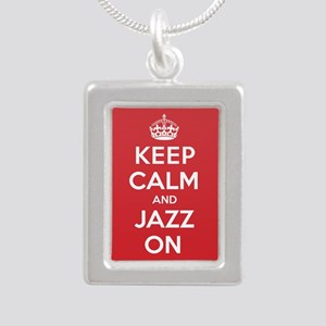 Keep Calm Jazz Silver Portrait Necklace